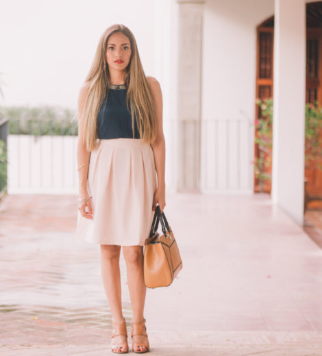 Cute Way to Wear a Midi Skirt